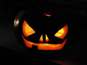 Jack-o-lantern carved pumpkin