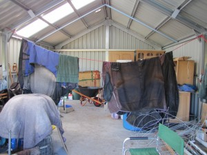 Interior of shed - full up