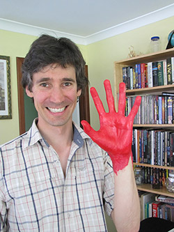 Brett with Red Hand