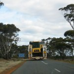 Stuck behind a wide truck on a narrow road near Ravensthorpe